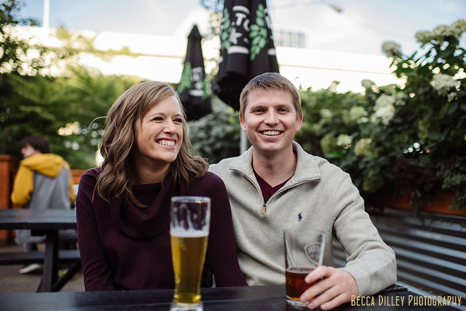 fulton brewing engagement photos minneapolis mn brewery portrait