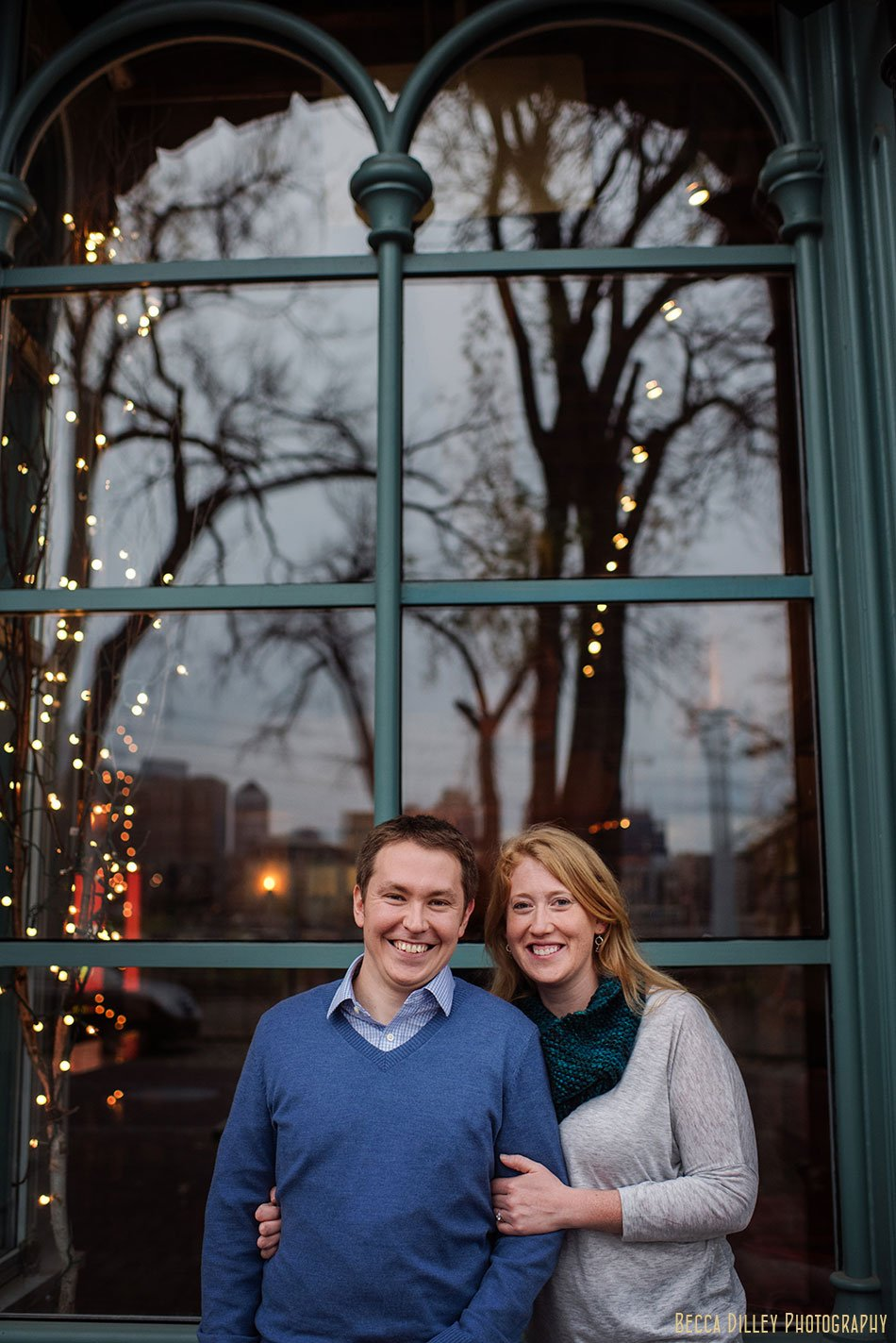 fall reflection minneapolis engagement photos st anthony main mn