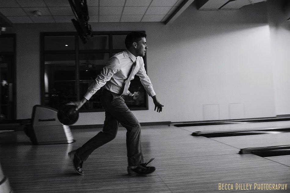 groom bowling for minneapolis same sex wedding pinstripes mn