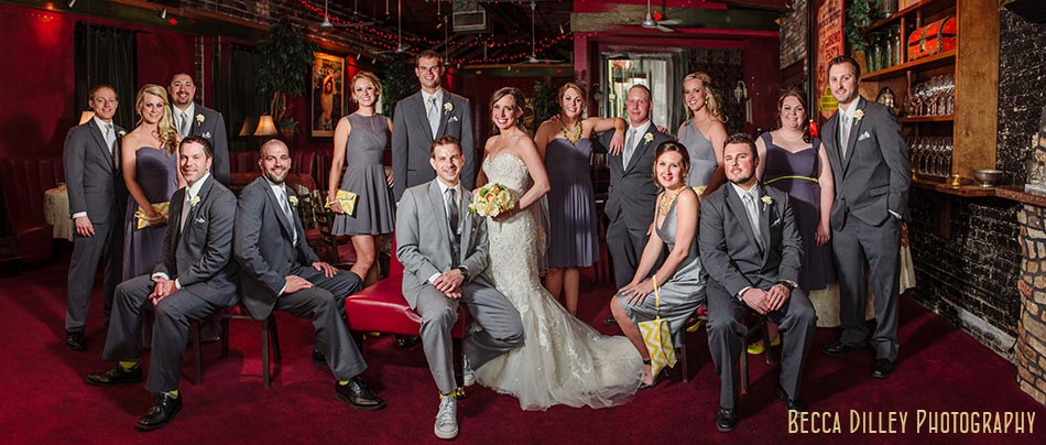 flash composite large wedding party minneapolis wedding photographer varsity theater april mn