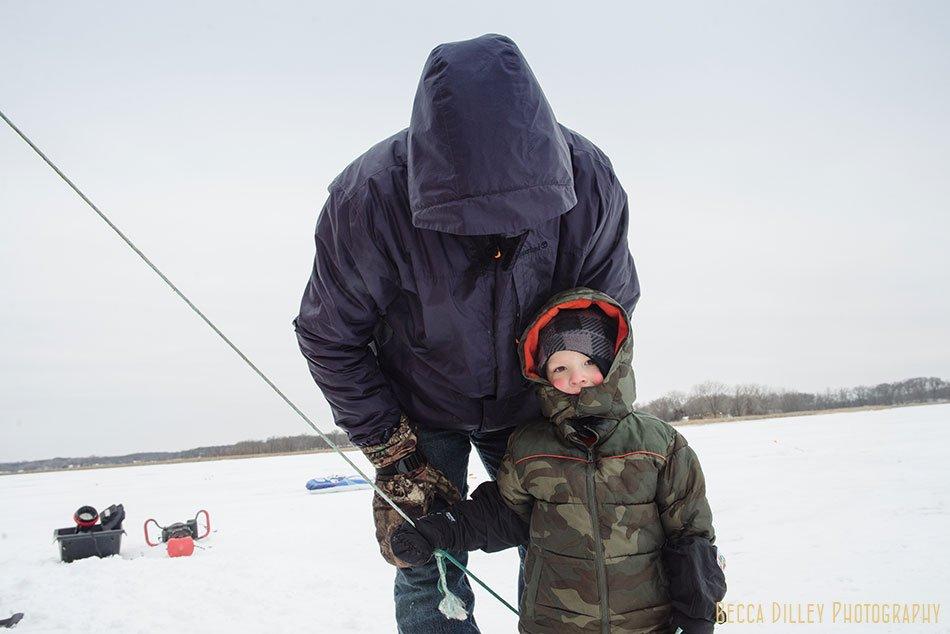 ice fishing wedding reception mn minnesota winter wedding