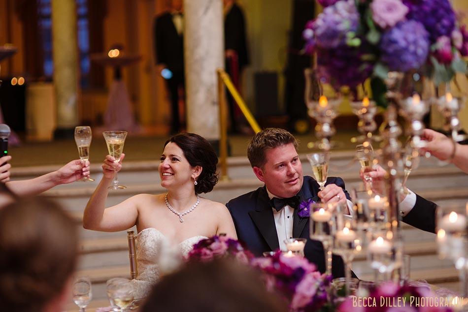 happy bride and groom memorial union great hall madison wisconsin wedding