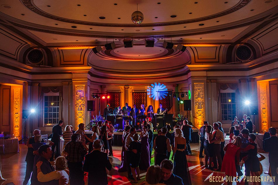 live band in great hall of memorial union madison wisconsin wedding