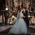 st paul wedding photographer new years eve rice park night lights