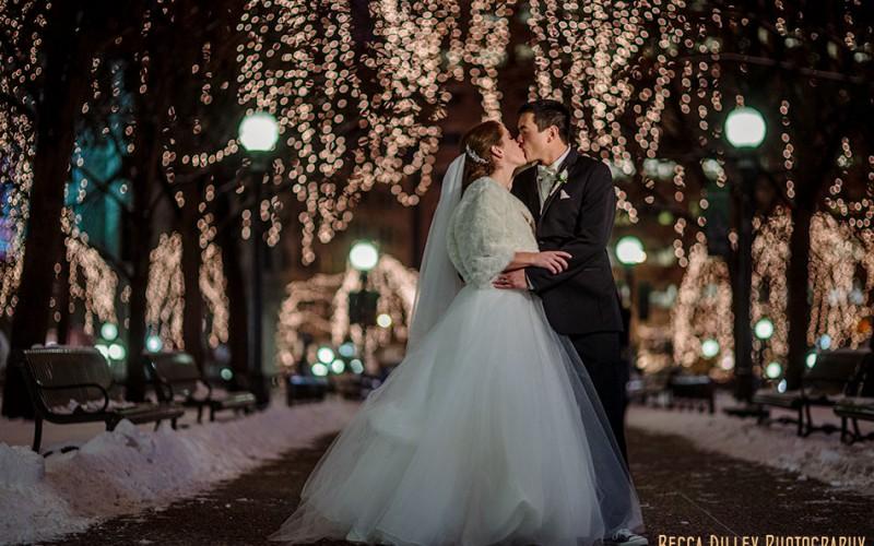 st paul wedding photographer new years eve rice park night lights