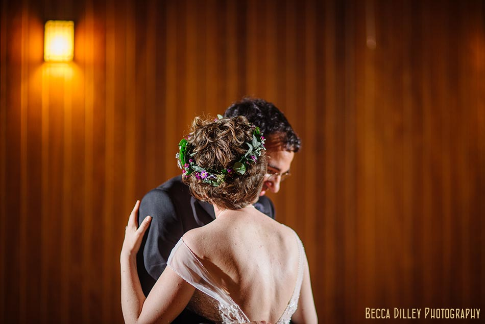 first dance with flower crown prairie wedding madison wi