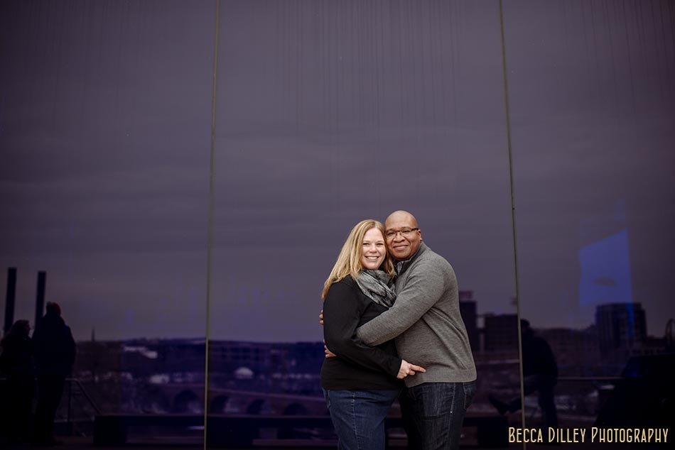 minneapolis winter engagement photos