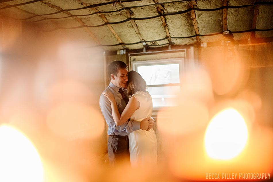 engagement photos in unfinished kitchen st paul wedding photographer