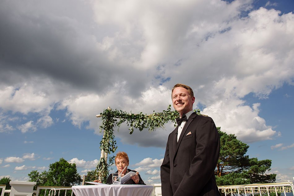 groom waits for bride Minikahda Club wedding minneapolis
