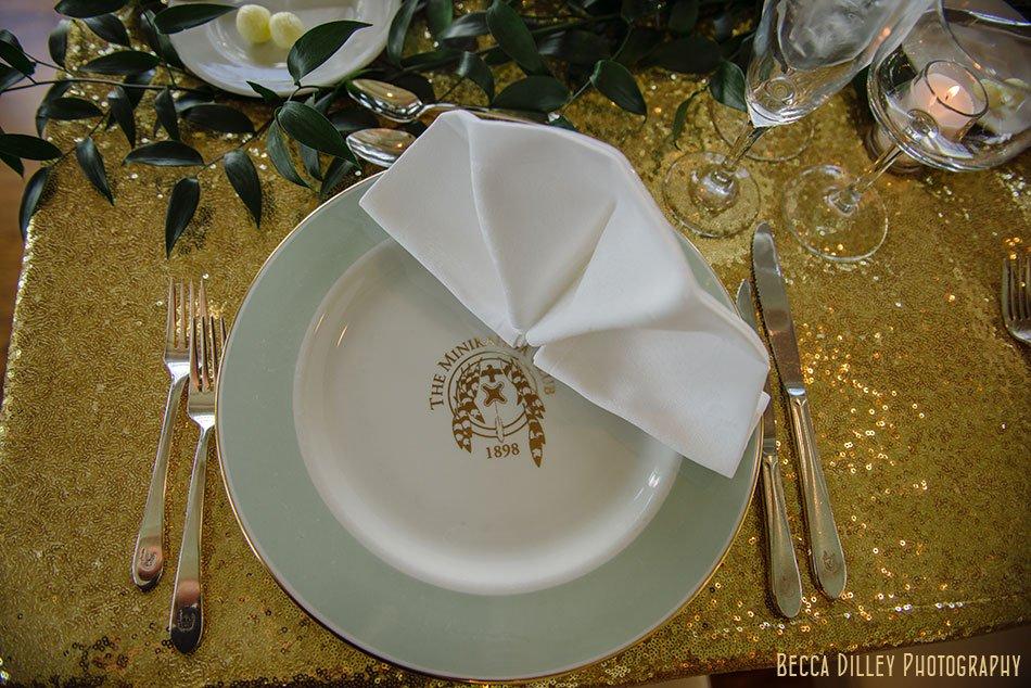 monogrammed plates Minikahda Club wedding minneapolis