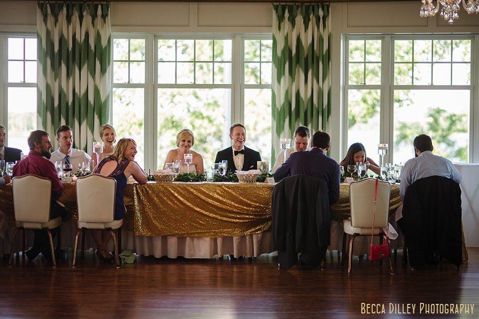 head table Minikahda Club wedding minneapolis