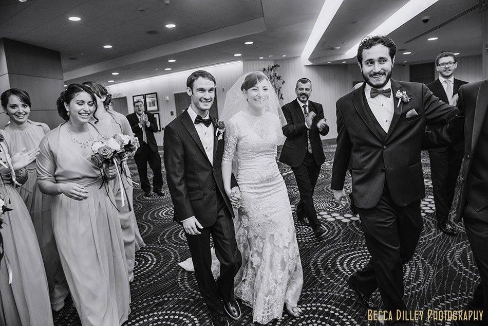 bride and groom minneapolis orthodox jewish wedding marriot city center