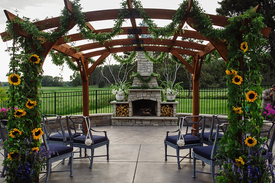 Minnesota backyard wedding two grooms
