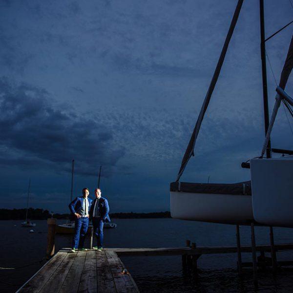 Wayzata yacht club wedding two grooms