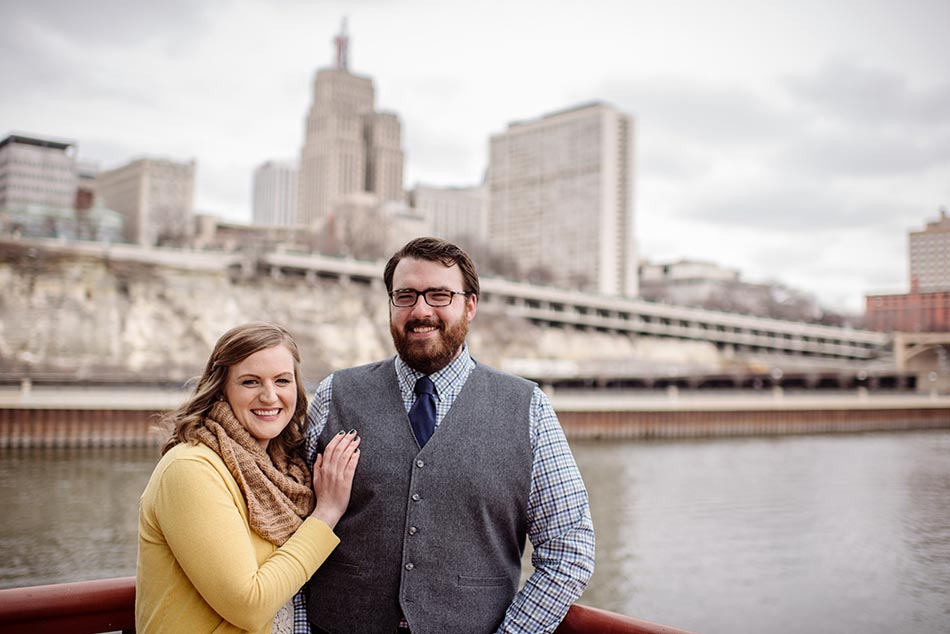 best St Paul Raspberry Island Engagement Photos