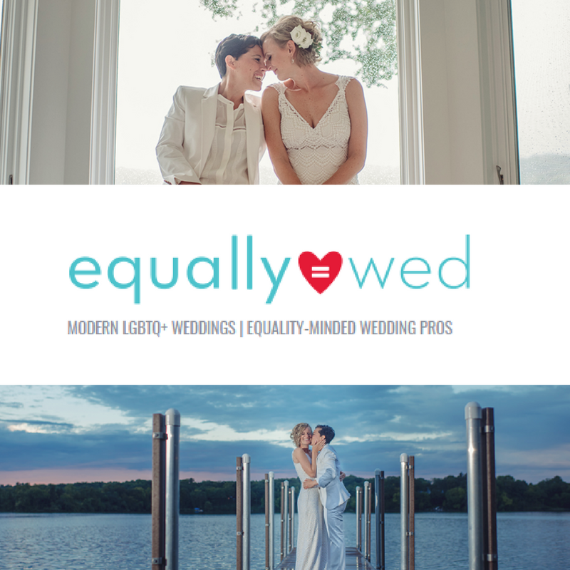 Minnesota wedding photographer featured in equally wed