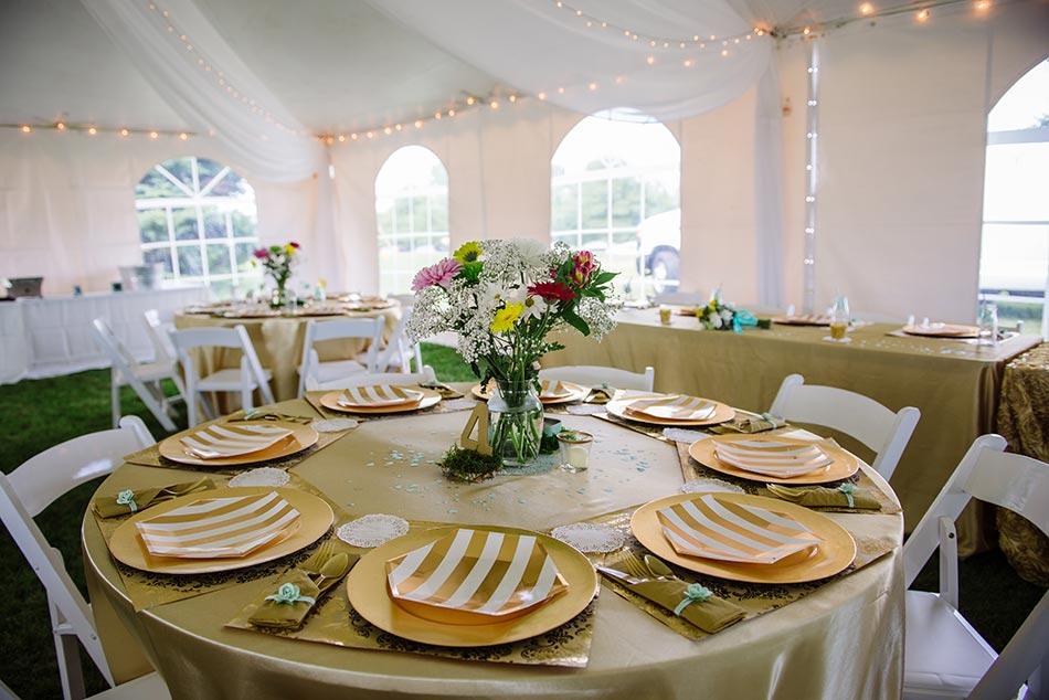minnesota wedding reception on family farm