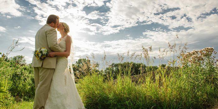 dramatic lighting minnesota wedding reception on family farm
