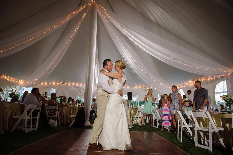 first dance minnesota wedding reception on family farm