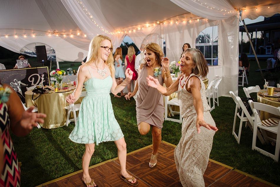 dancing minnesota wedding reception on family farm