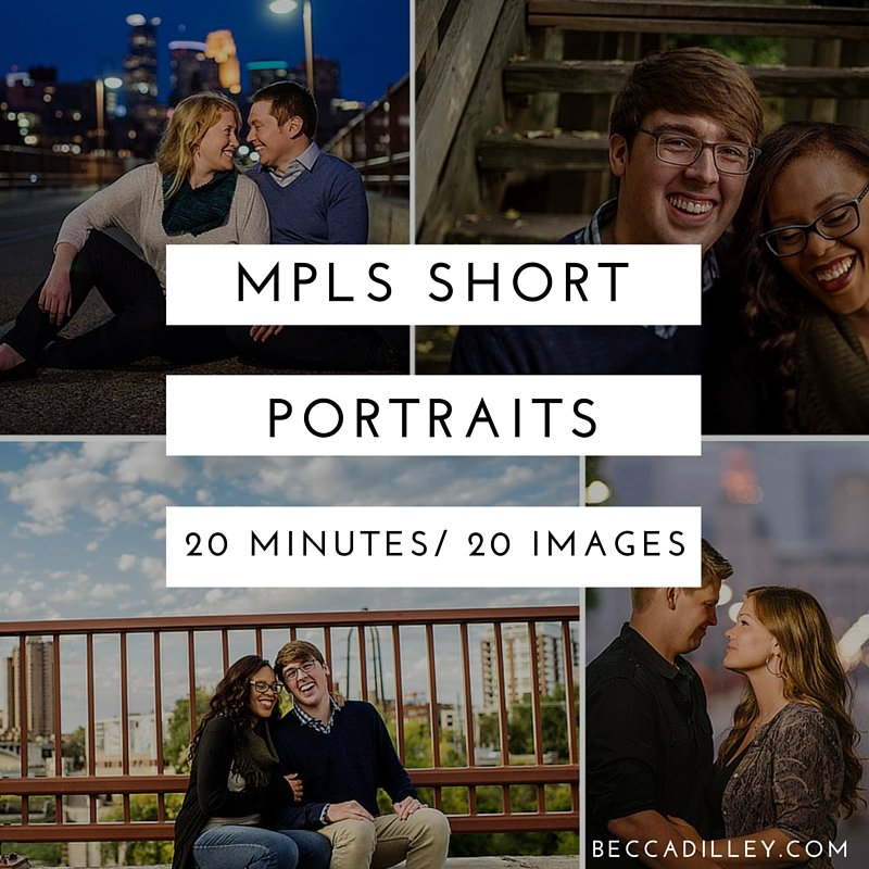 minneapolis short portraits sessions spring