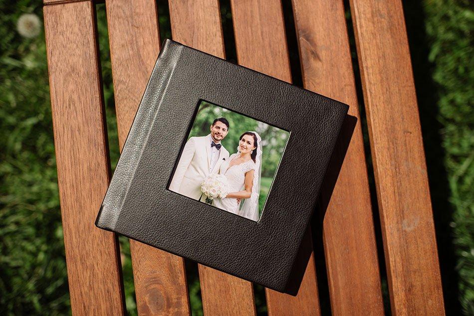 simple design wedding album minneapolis photographer