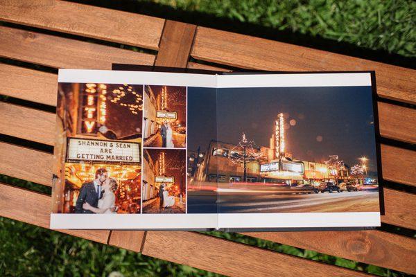 Navy Leather Minneapolis Wedding Album