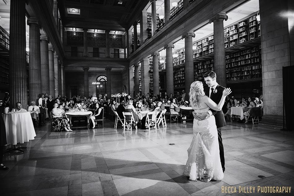 first dance james j hill library wedding st paul mn photographer