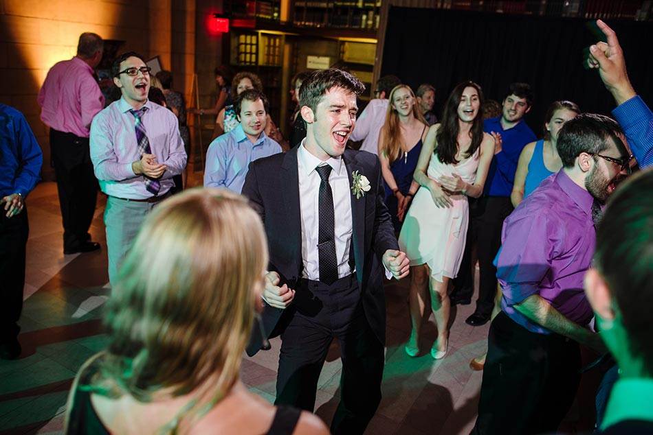 groom dancing james j hill library wedding st paul mn photographer