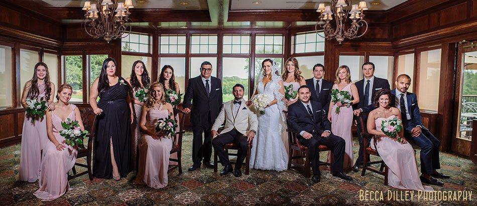 large wedding party wayzata country club wedding mn