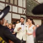 bride and groom listen to mariachi band wayzata country club wedding mn