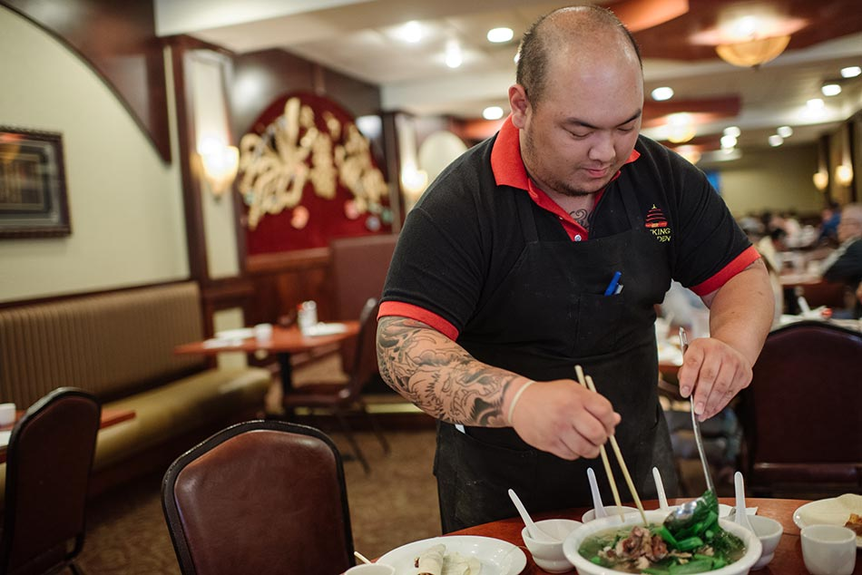 serving chinese soup editorial food photographer mn university ave st paul