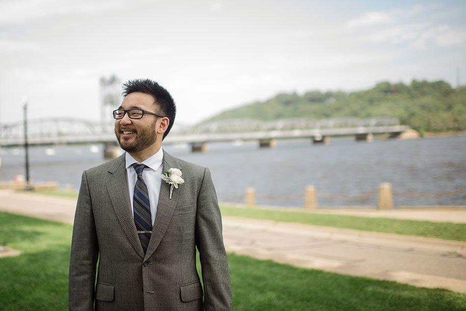 groom Stillwater Historic Courthouse Wedding mn