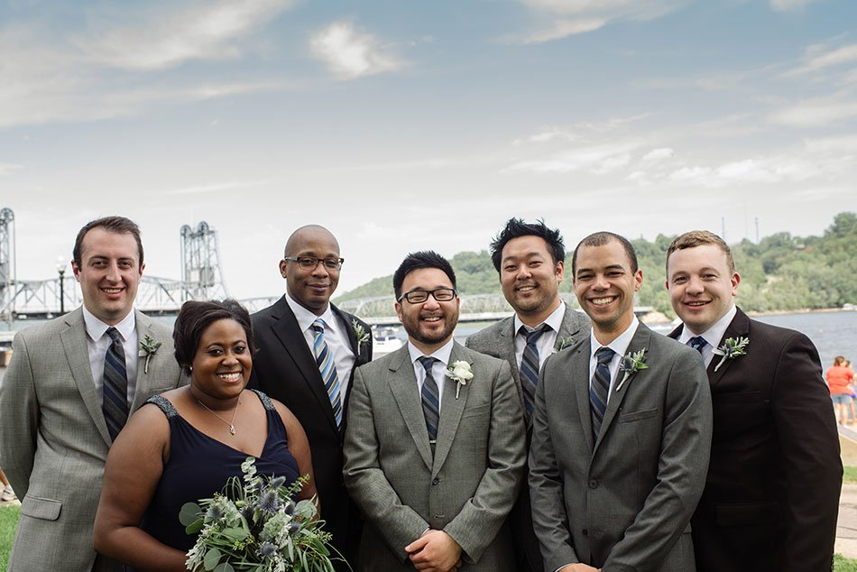 groomsmen Stillwater Historic Courthouse Wedding mn