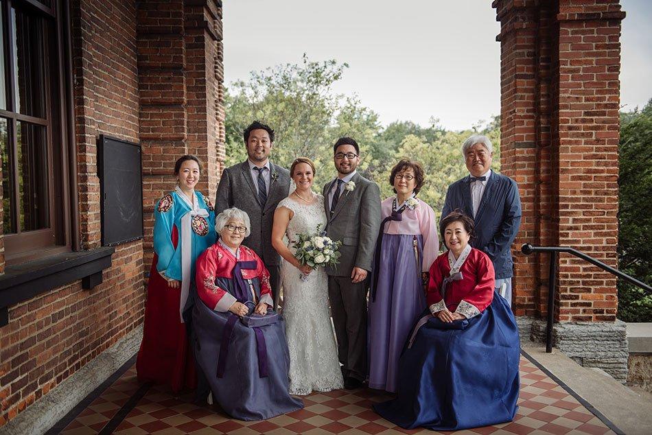 family portrait korean Stillwater Historic Courthouse Wedding mn