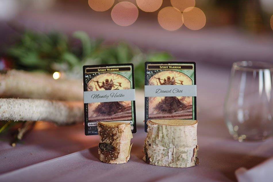 magic gathering wedding place cards Stillwater Historic Courthouse Wedding mn