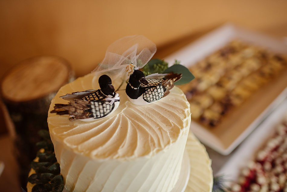 loon cake toppers Stillwater Historic Courthouse Wedding mn