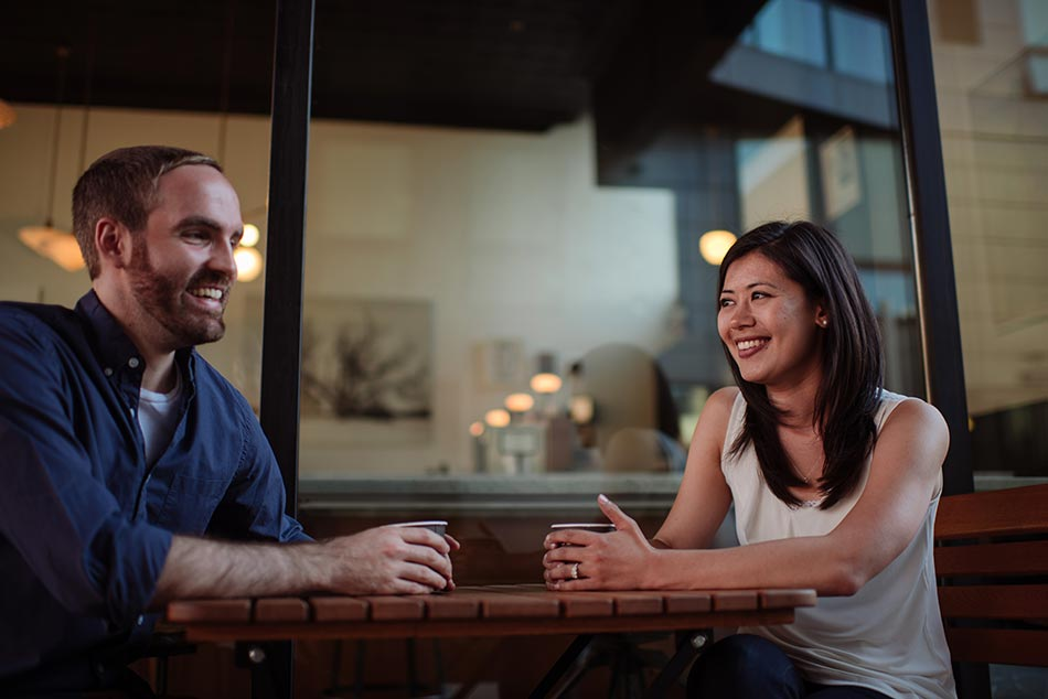 spyhouse coffee Stylish downtown Minneapolis Engagement
