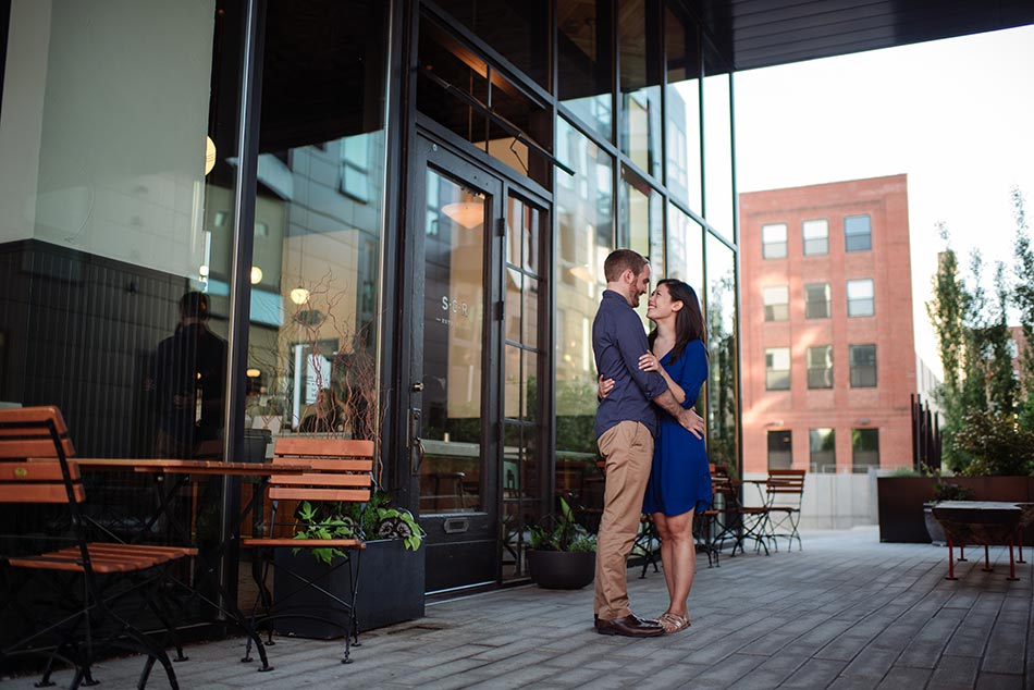 Stylish downtown Minneapolis Engagement
