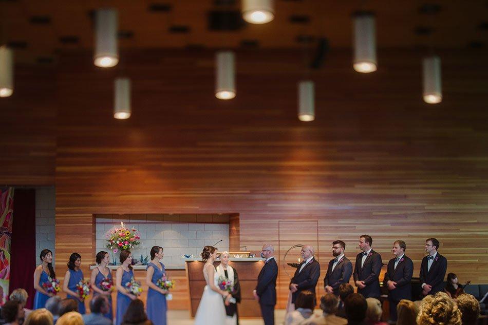 interior white bear Unitarian universalist church wedding mn