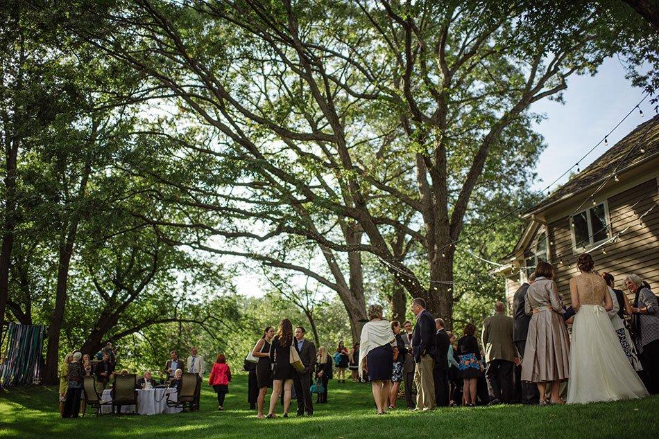 cocktail hour White Bear Lake Backyard Wedding