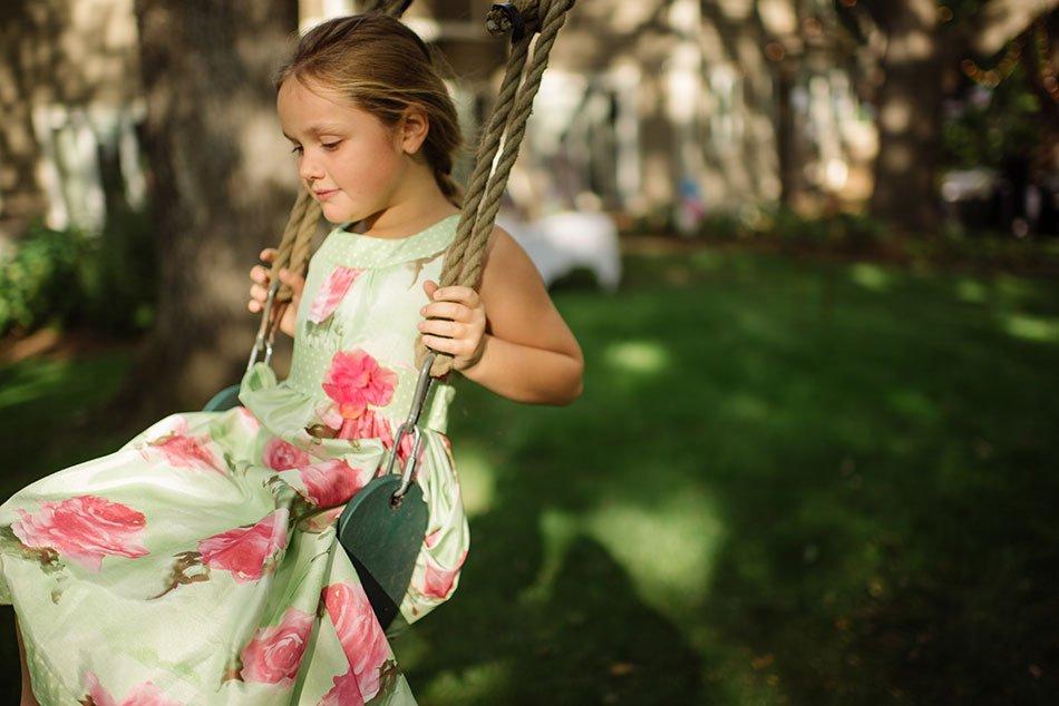 girl on swing White Bear Lake Backyard Wedding