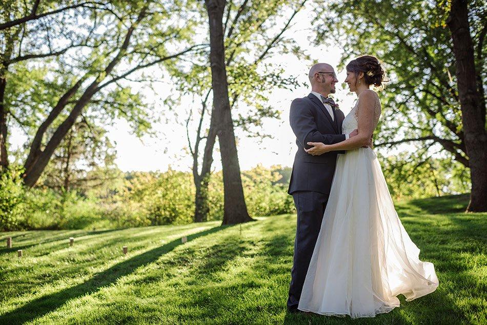 bride and groom White Bear Lake Backyard Wedding