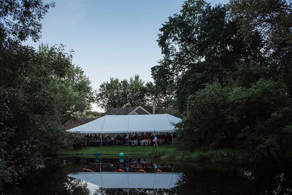 backyard wedding tent White Bear Lake Backyard Wedding