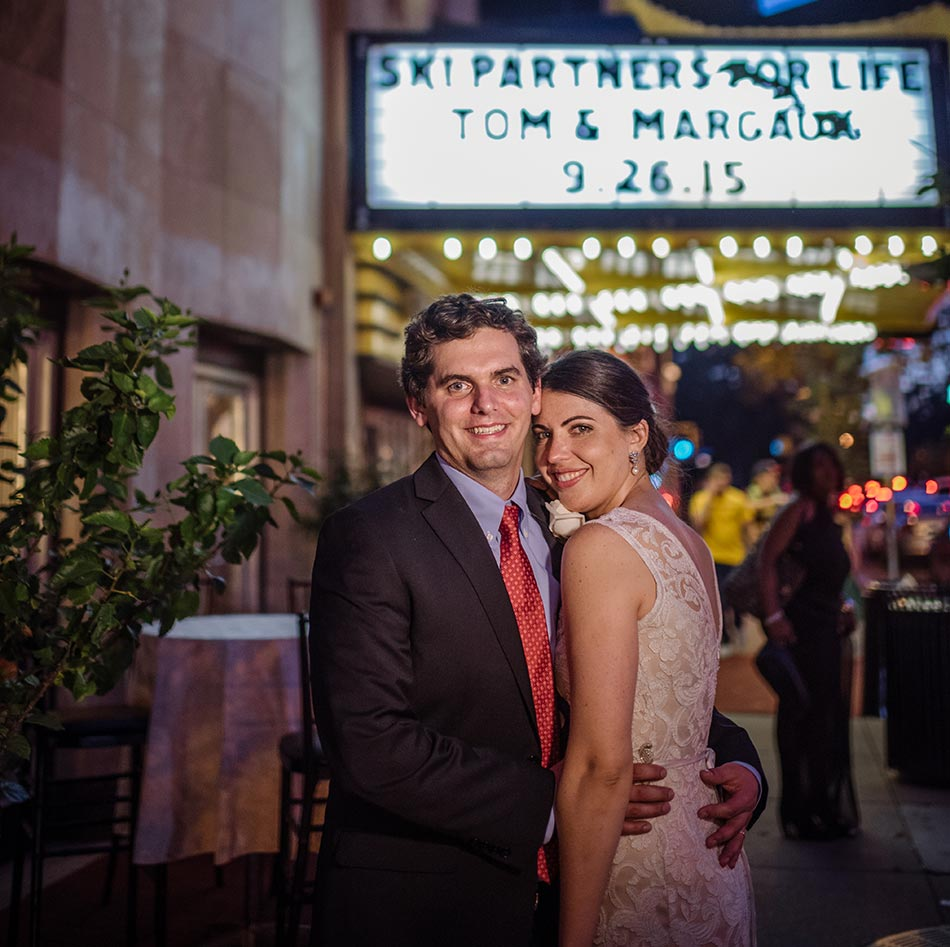 marquee Varsity Theater wedding reception Minneapolis mn photographer