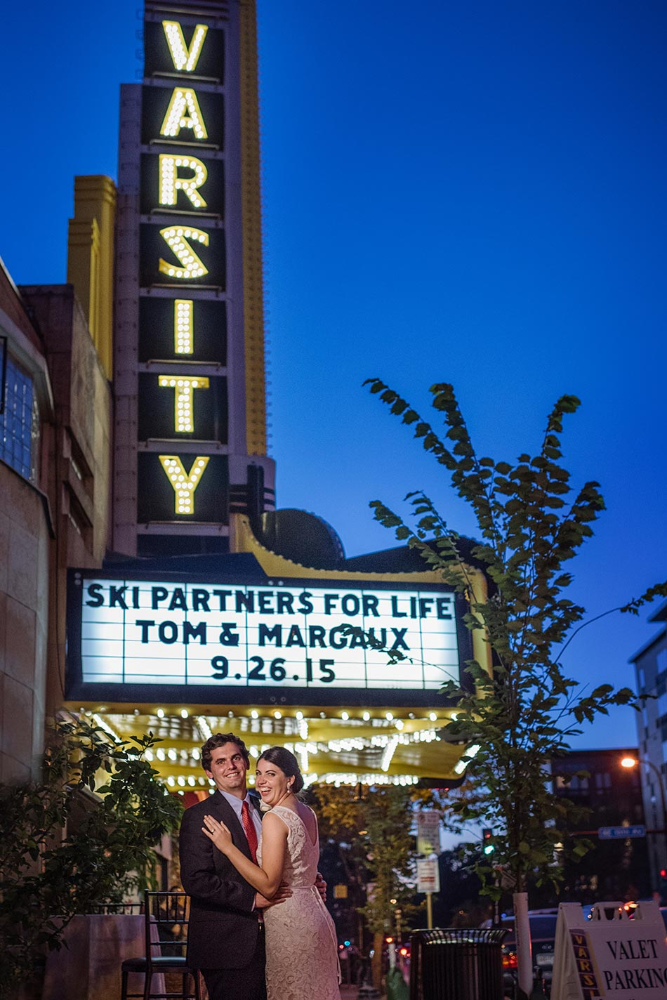 Varsity Theater wedding reception Minneapolis mn photographer