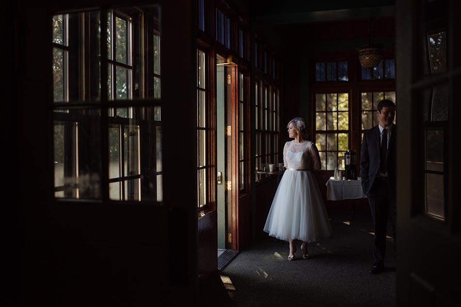 bride waiting Theodore Wirth Wedding Minneapolis