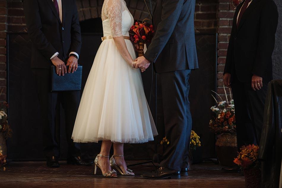 tea length dress Theodore Wirth Wedding Minneapolis