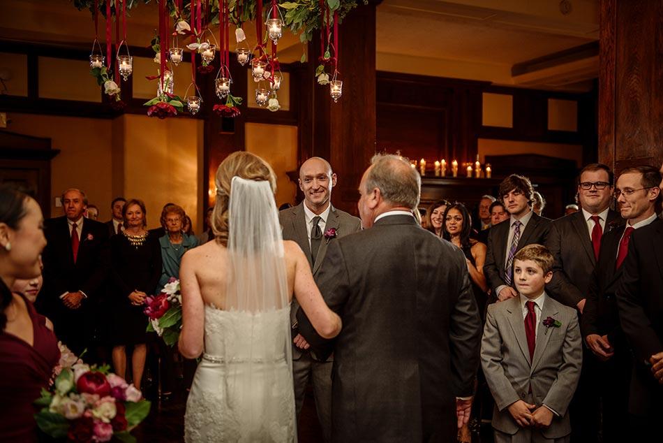 bride enters ceremony Wedding at Minneapolis Club