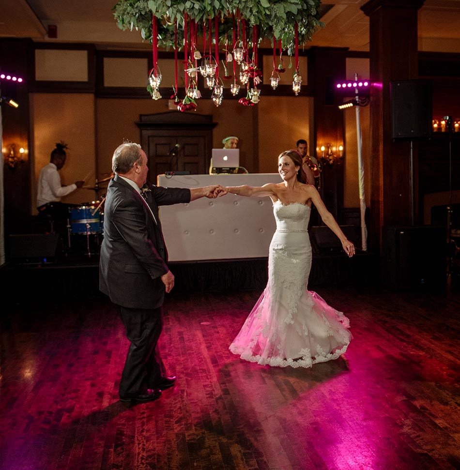 father and daughter Wedding at Minneapolis Club